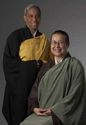 photo of Sensei Merle Kodo Boyd and Roshi Wendy Egyoku Nakao